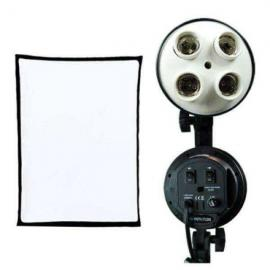 4 Socket Bulb Holder with Softbox 50 By 70
