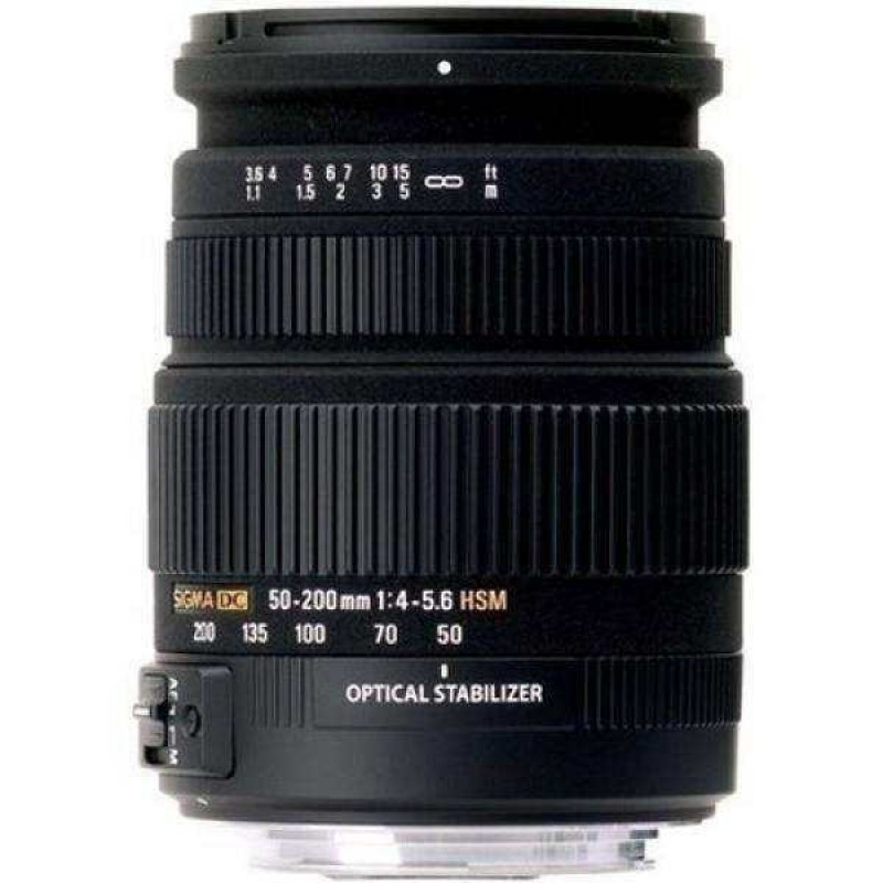 Sigma 50-200mm f/4.0-5.6 DC Optical Stabilized (OS) HSM Lens