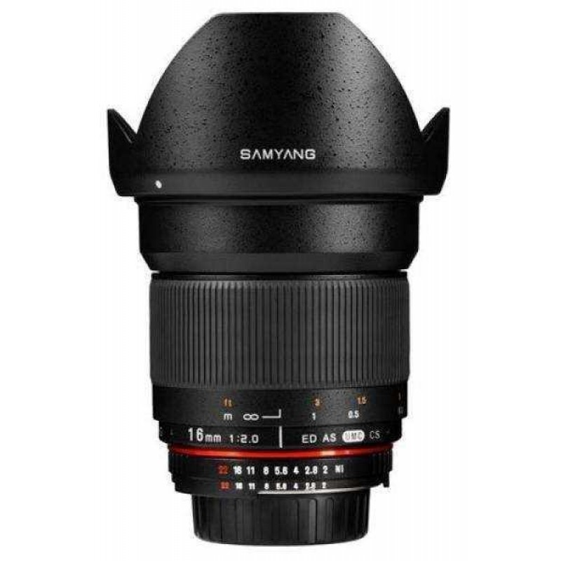 Samyang 16mm F/2.0 Lens for Canon EF Cameras