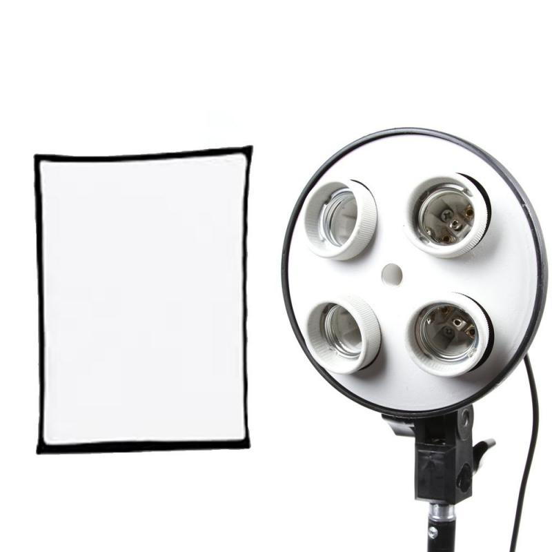 4 Socket Bulb Holder with Softbox 60 by 80cm
