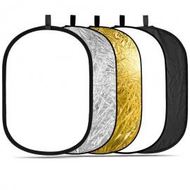 5 in 1 Collapsible Reflector 120 by 180 cm
