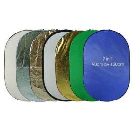 7 in 1 Collapsible Reflector 90 by 120 cm