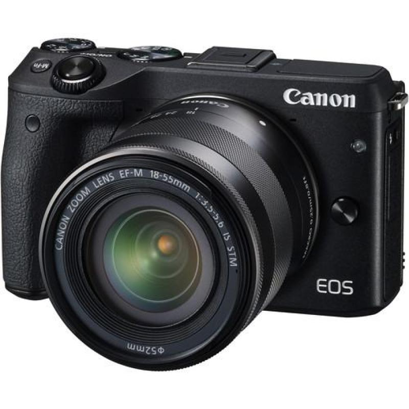 Canon EOS M3 Mirrorless Digital Camera with 18-55mm Lens
