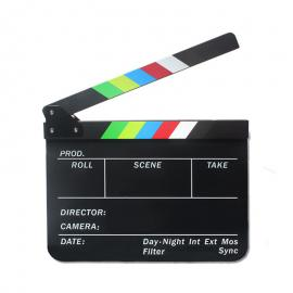 Director Black Magnetic Acrylic Clapper Board Slate