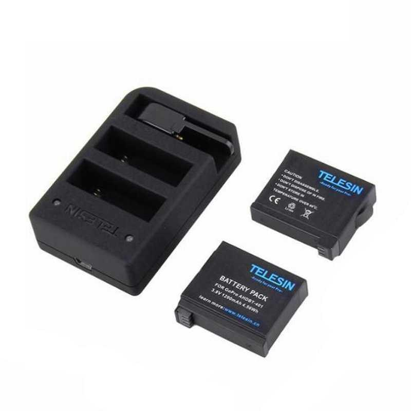 Multi Charger for GoPro Hero4 with 2 Batteries