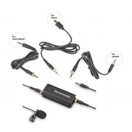 LavMic Dual Channels Audio Mixer with Lavalier Microphone Kit
