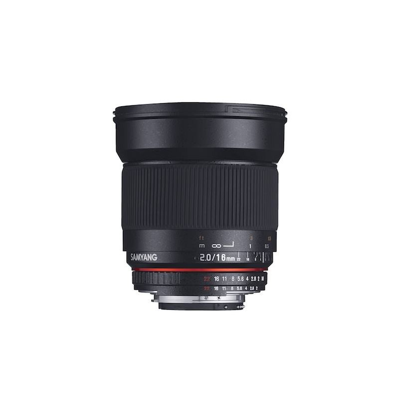 SAMYANG 16mm F2 ED AS UMC CS Lens