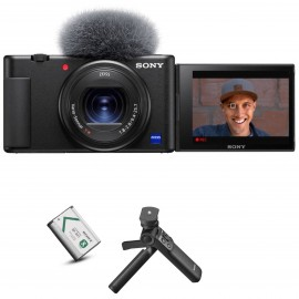 Sony ZV-1 Digital Vlogging Camera+Orignal Extra Battery and Wirless Shooting Grip