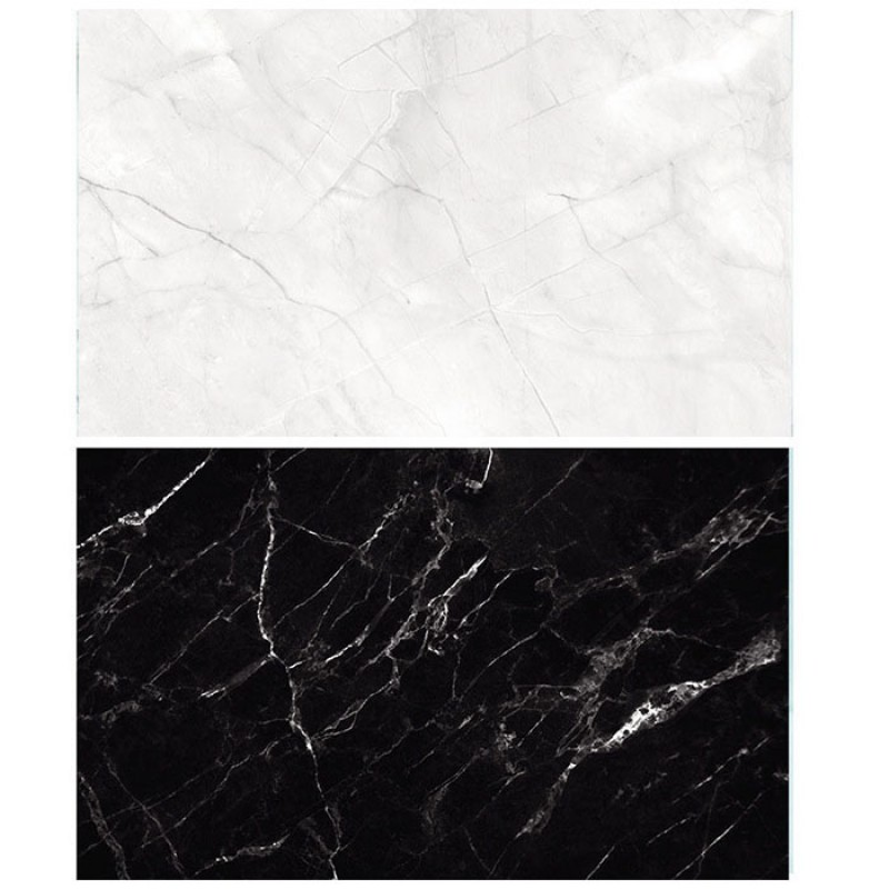 Black and White Marble Double Sided Background For Product Photography