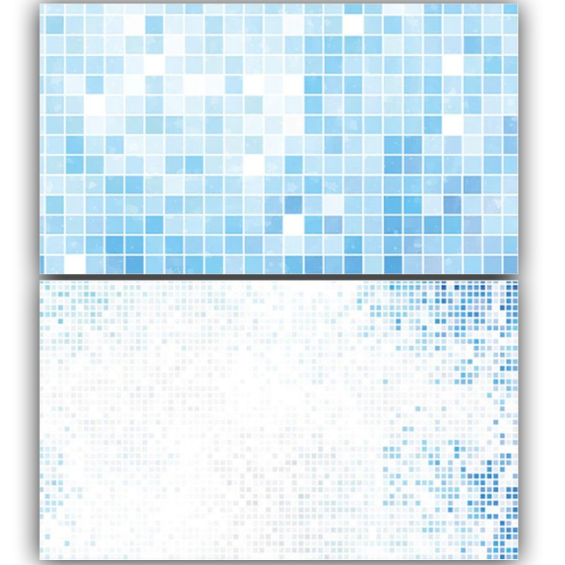 Blue Pixel Boxes Double Sided Background for Product Photography