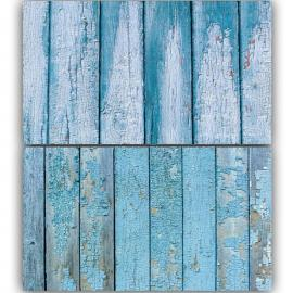 Blue Wooden Double Sided Background for Product Photography