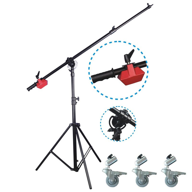 Boom Stand With Wheels & Weight