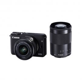 Canon EOS M10 Mirrorless Digital Camera with 15-45mm and 55-200mm + M Mount Adapter + 64GB SD