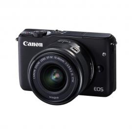 Canon EOS M10 Mirrorless Digital Camera with 15-45mm + M Mount Adapter + 64GB SD