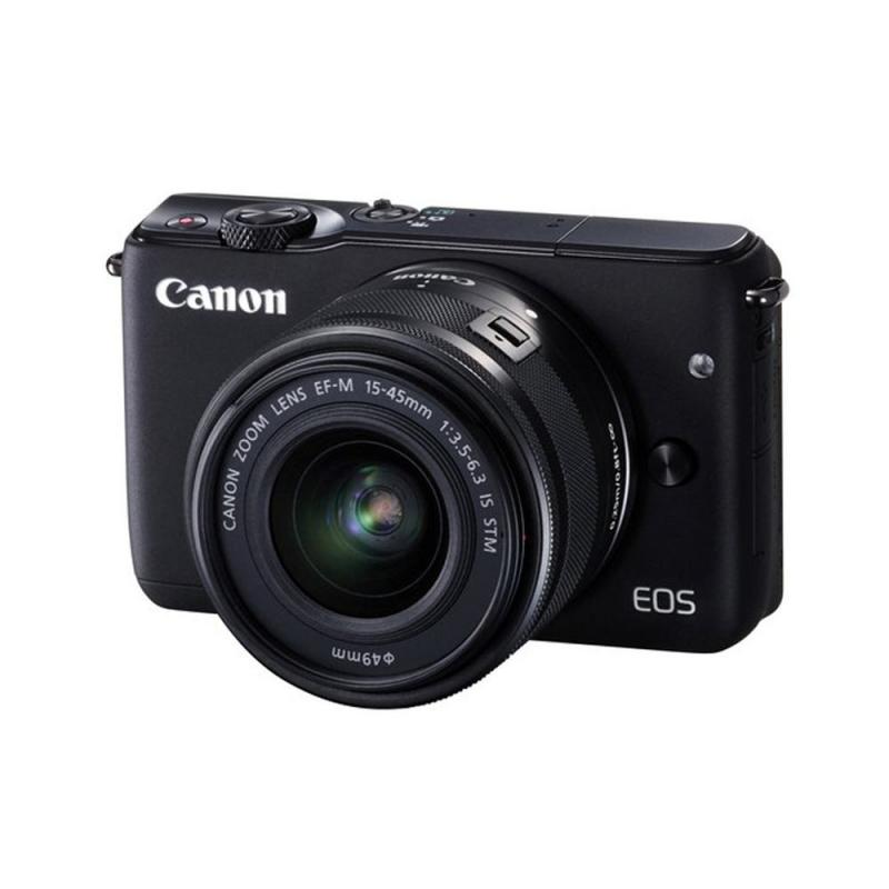 CanonEOS M10 Mirrorless Digital Camera with 15-45mm + M Mount Adapter + 64GB SD
