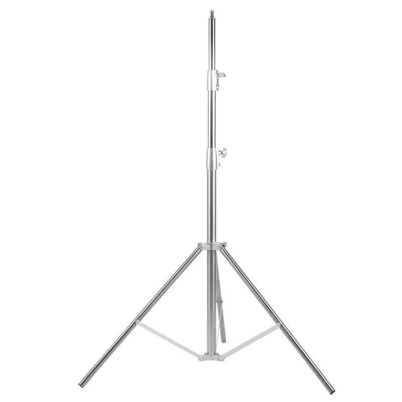 Heavy Duty Stainless Silver Light Stand 280