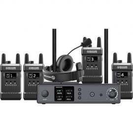Hollyland Mars T1000 Full-Duplex Intercom System with Four Beltpack Transceivers
