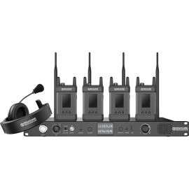 Hollyland Syscom 1000T-4B Full-Duplex Intercom System with Four Beltpacks and Headsets