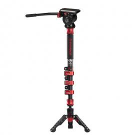 iFootage Cobra 2 A120-II Aluminum Monopod with Komodo K5 Fluid Head