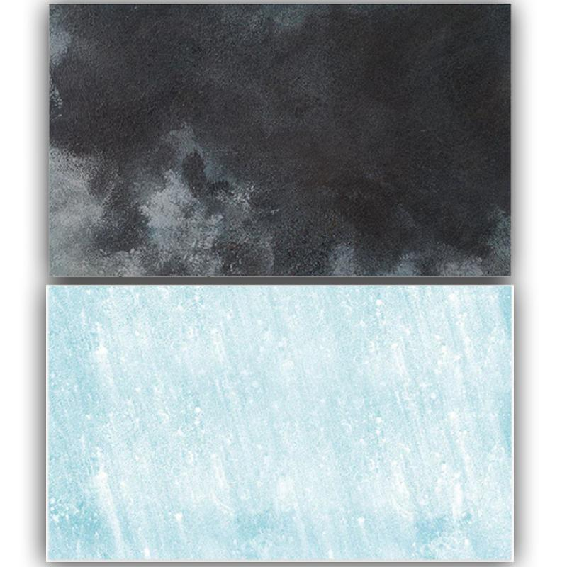 light Blue Black Wall Double Sided Background for Product Photography