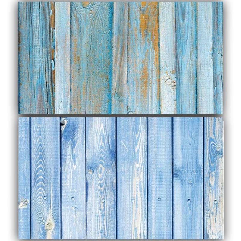 Light Blue Wooden Double Sided Background for Product Photography