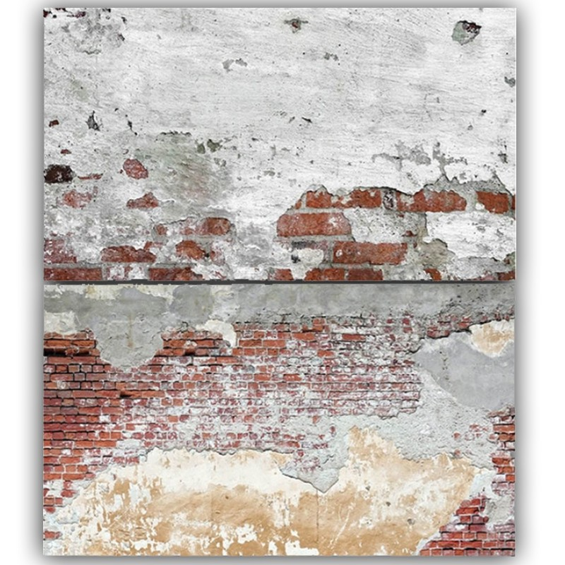 Old Wall Bricks Double Sided Background for Product Photography