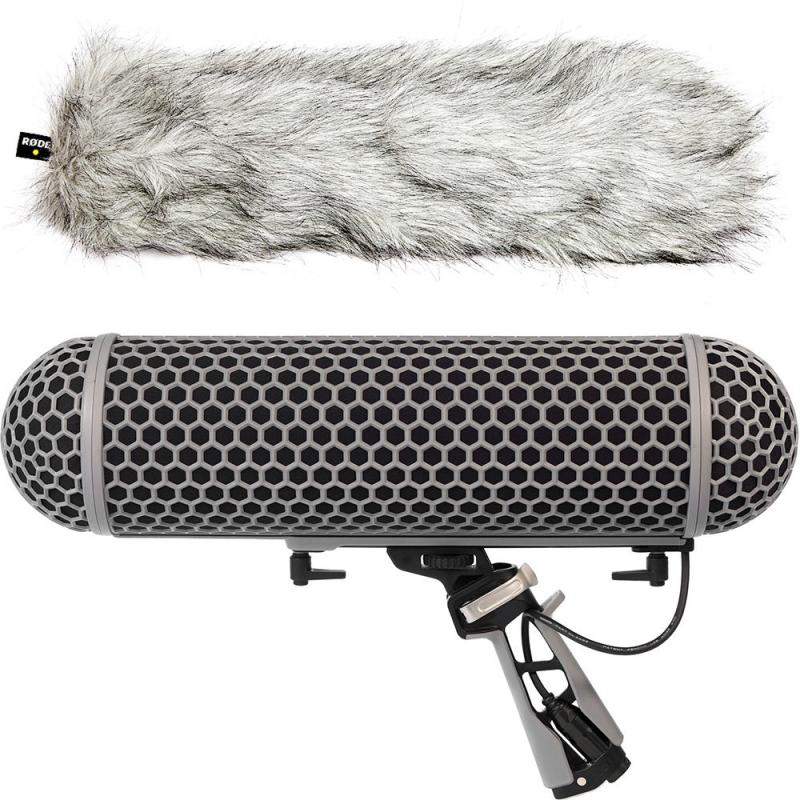 Rode Blimp Windshield and Rycote Shock Mount Suspension System