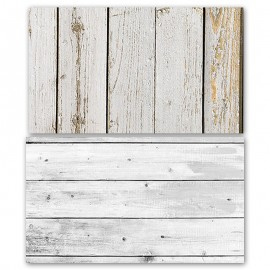 Rustic White Wooden Double Sided Background for Product Photography