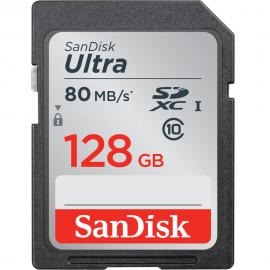 SanDisk 128GB Ultra UHS-I SDHC Memory Card (Class 10)