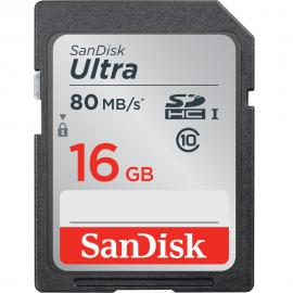 SanDisk 16GB Ultra UHS-I SDHC Memory Card (Class 10)