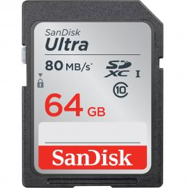 SanDisk 64GB Ultra UHS-I SDHC Memory Card (Class 10)