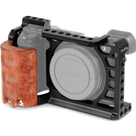 SmallRig Camera Cage Kit with Wooden Grip for Sony a6300 and a6500