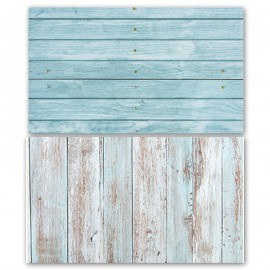 Vintage Blue Wooden Double Sided Background for Product Photography