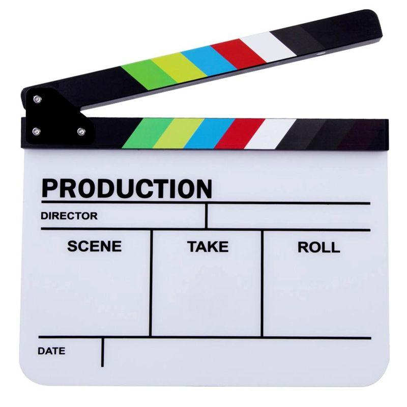 Director White Magnetic Acrylic Clapper Board Slate