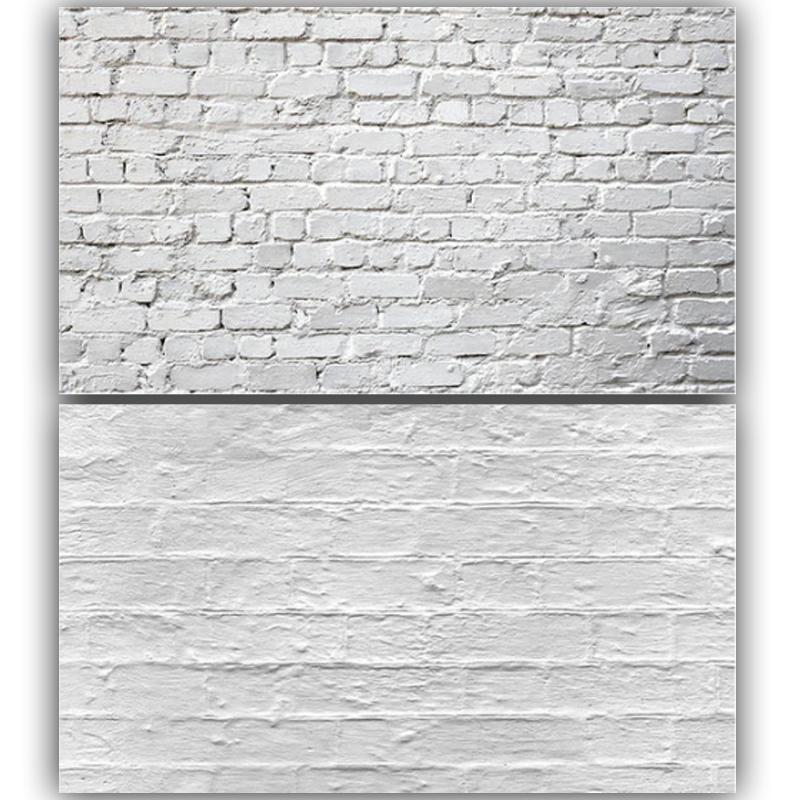 White Wall Bricks Double Sided Background for Product Photography