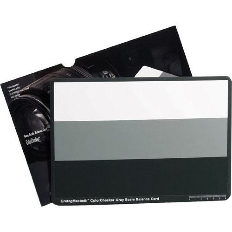 X-Rite ColorChecker Gray Scale Balance Card